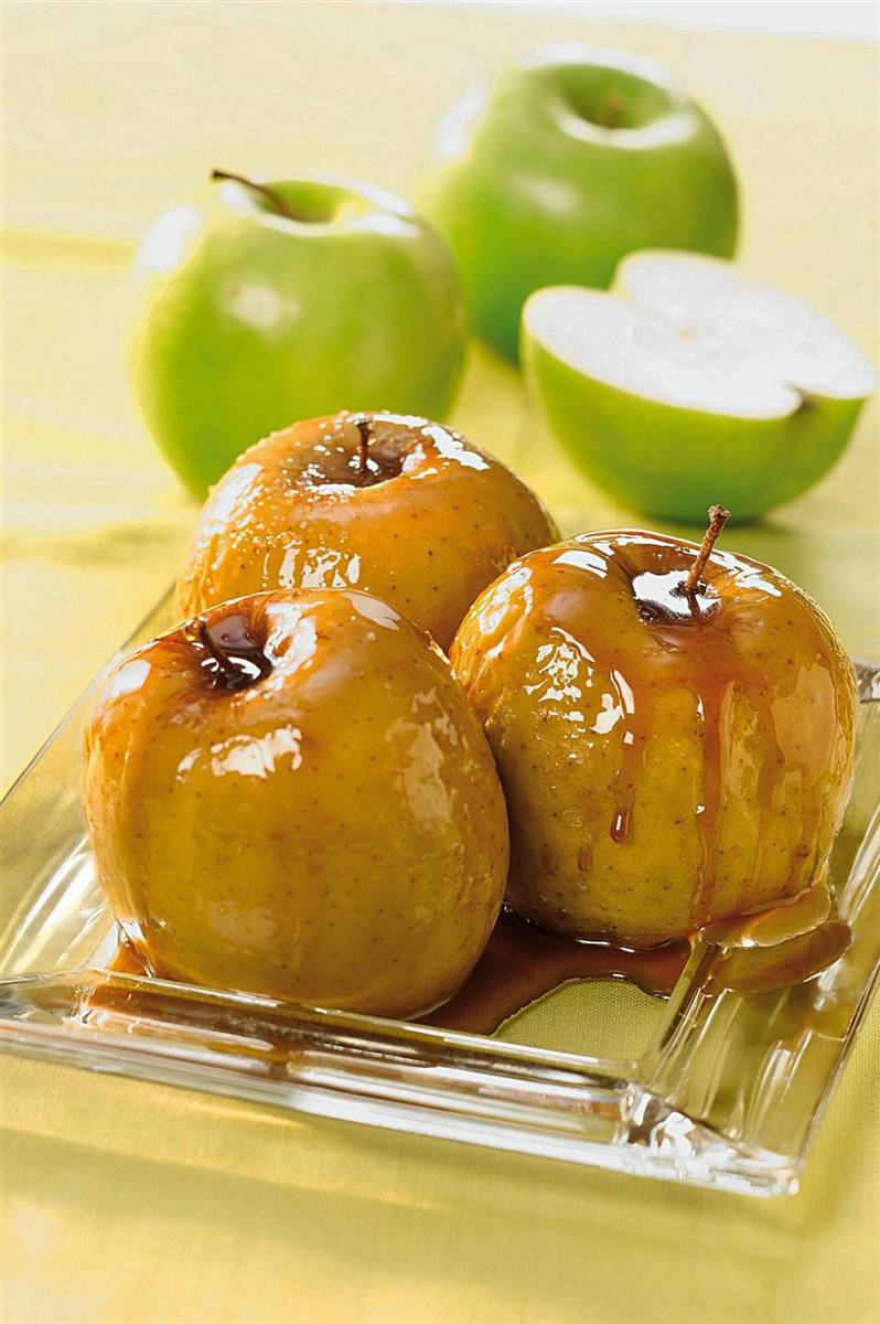 manzana asada para dieta blanda
